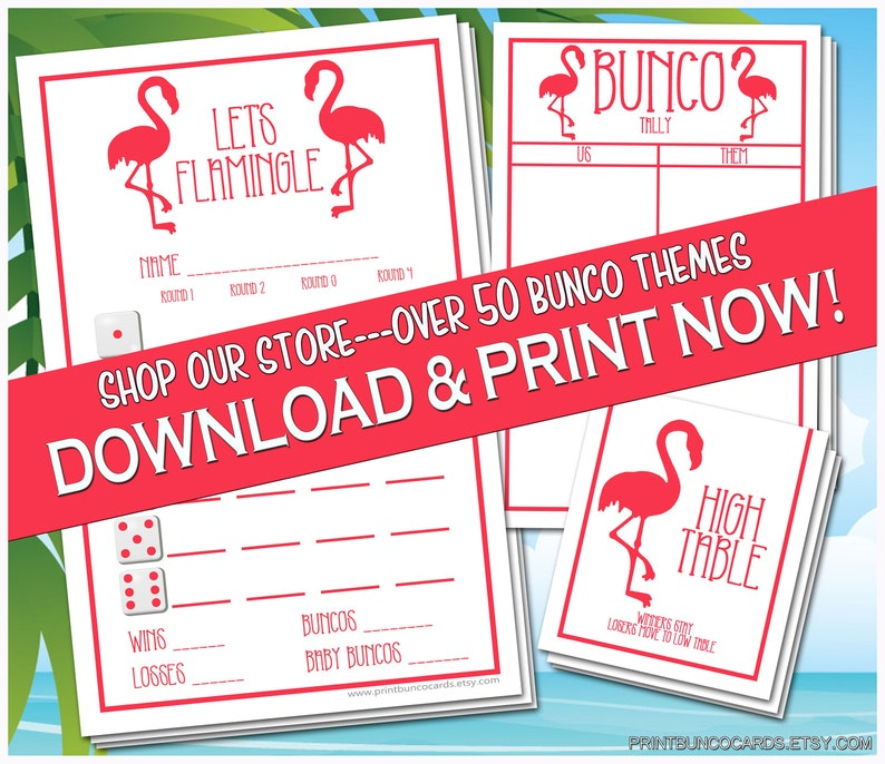 photo relating to Printable Bunco Cards referred to as Printable Bunco Playing cards Makes it possible for Flamingle Flamingo Tropical Summer season Themed Tropical Bunko Rating Playing cards Obtain Cost-free Adjustments