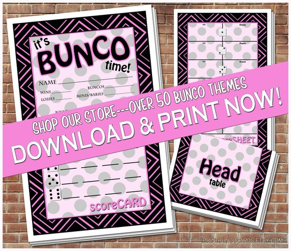 photo relating to Free Printable Bunco Table Tally Sheets referred to as Printable Bunco Playing cards Bunko Scorecards Rating Sheets Prompt Obtain Free of charge Minimal Improvements