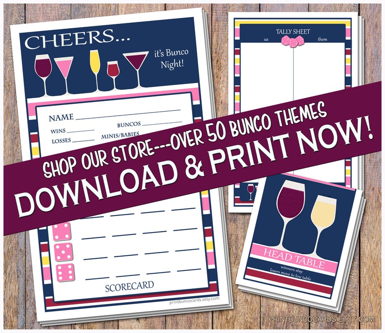 image regarding Free Printable Bunco Table Tally Sheets named Printable Its Bunco Night time Bunco Playing cards Bunko Scorecards Rating Sheets Immediate Obtain Free of charge Tiny Modifications