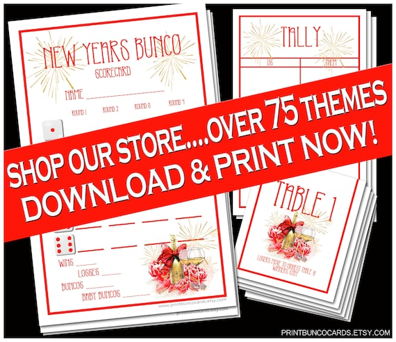 image relating to Free Printable Bunco Table Tally Sheets called Printable Bunco Established Contemporary Calendar year Several years Detailed Tailor made Bunco Fixed Bunco Card Bunco Tally Sheet Bunco Desk Playing cards Bunko No cost Very little Adjustments
