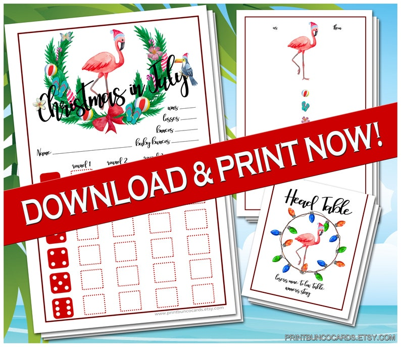 graphic regarding Cute Bunco Score Sheets Printable identify Printable Xmas within July Bunco Playing cards Bunko Scorecards Rating Sheets Immediate Down load Absolutely free Alterations