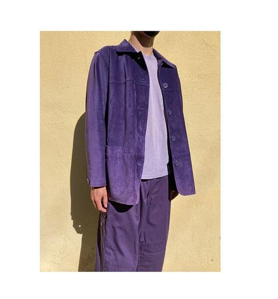 Vintage 90's suede genuine leather chore jacket