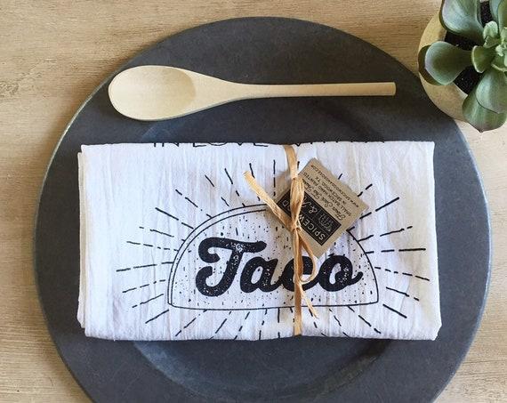 Taco Girl Flour Sack Towel