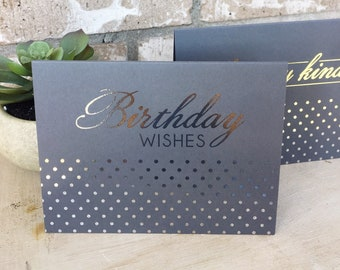 Silver Foil Greeting Cards