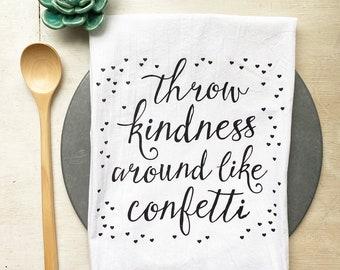 Kindness Confetti Flour Sack Towel