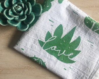 Cactus Love Flour Sack Tea Towel
