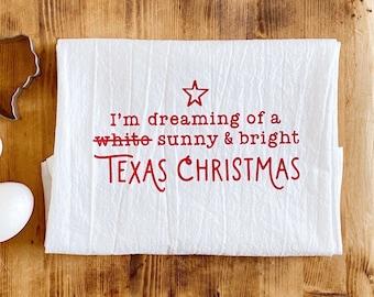 Sunny & Bright Texas Christmas Cotton Tea Towel or Bath Towel