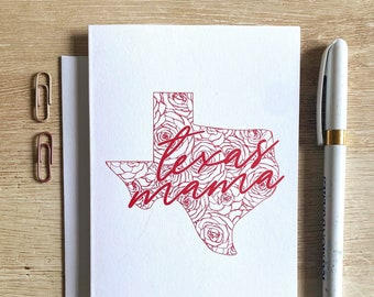 Texas Mama Greeting Card