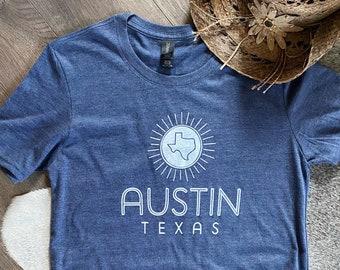 Screen Printed Austin Texas Sunshine T-Shirt
