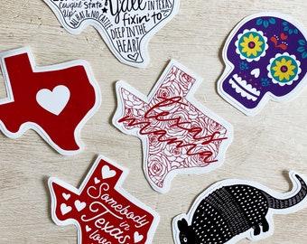 Texas Die Cut Vinyl Stickers