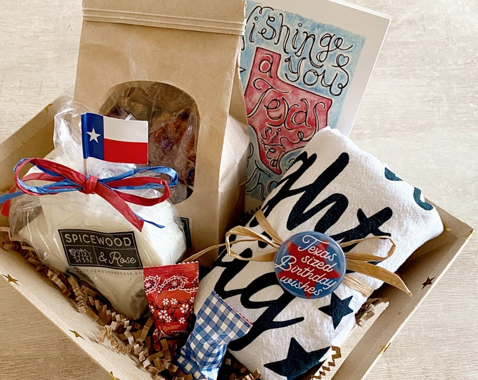 Featured listing image: Texas Birthday Gift Basket