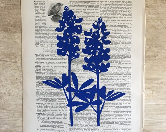 Vintage Dictionary Paper Screen Prints