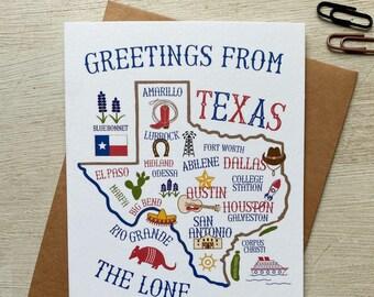 Texas Landmarks Greeting Card