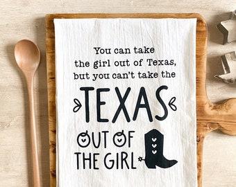 Texas Girl Flour Sack Kitchen Towel