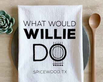 What Would Willie Do Flour Sack Tea Towel
