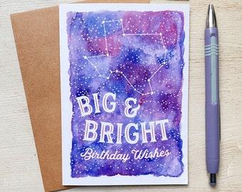 Texas Stars at Night Birthday Card