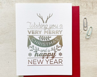 Nordic Merry Christmas and Happy New Year Card
