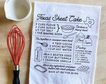 Texas Sheet Cake Flour Sack Towel