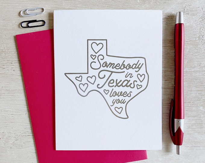 Featured listing image: Somebody in Texas Loves You Greeting Card
