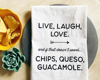 Chips, Queso, Guacamole Tea Towel