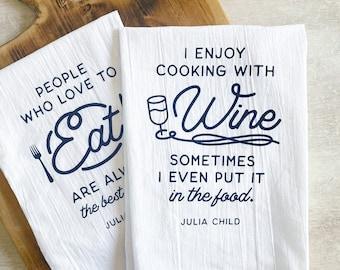 Food & Wine Flour Sack Kitchen Towel Set