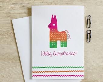 Feliz Cumpleaños Piñata Greeting Card
