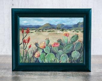 Big Bend Cactus Landscape Reproduction Print