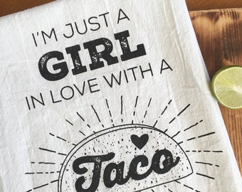 Taco Girl Flour Sack Towel