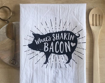 What's Shakin' Bacon Pig Towel