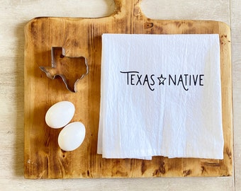 Texas Native Cotton Tea Towel or Bath Towel