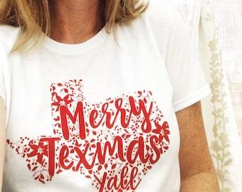 Merry Texmas Screen Printed T-Shirt