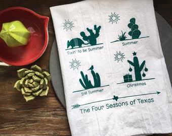 Texas Four Seasons Flour Sack Towel