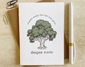 Texas Live Oak Tree Encouragement Greeting Card