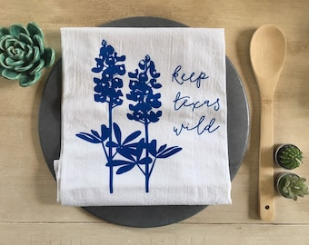 Texas Bluebonnets Flour Sack Towel
