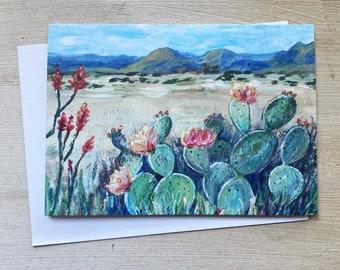 Big Bend Art Print Greeting Card