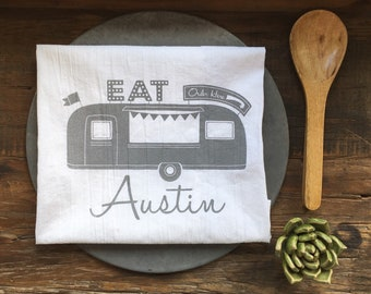 Austin Food Truck Flour Sack Tea Towel