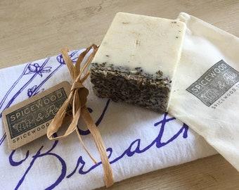 Lavender Tea Towel & Bath Bar Gift Set