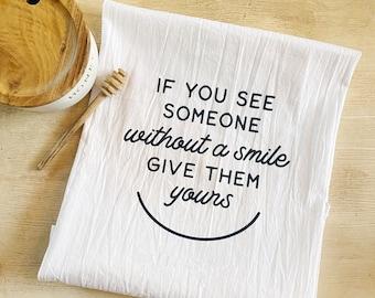 Smile Flour Sack Towel