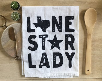 Lone Star Lady Flour Sack Towel