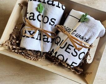 Tex Mex Flour Sack Towel Gift Basket