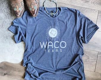 Screen Printed Waco Texas T-Shirt