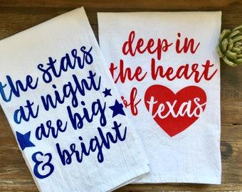 Deep in the Heart of Texas Flour Sack Kitchen Towel Set