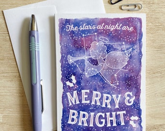 Merry & Bright Texas Holiday Card