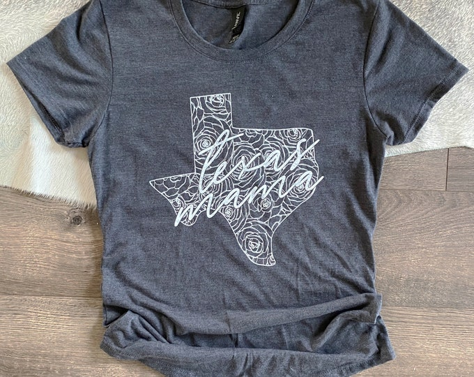 Featured listing image: Texas Mama Screen Printed T-Shirt