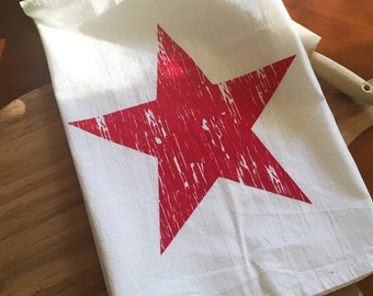 Red Country Star Flour Sack Towel