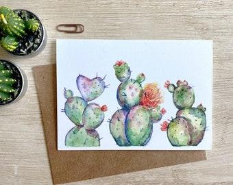 Watercolor Cactus Greeting Card