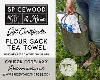 Spicewood & Rose Tea Towel Gift Certificate