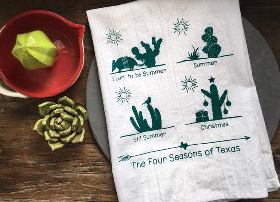 Texas Four Seasons Flour Sack Towel