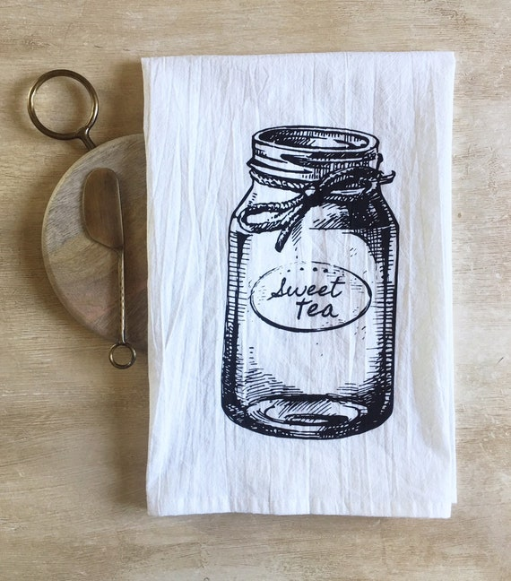 Sweet Tea Mason Jar Flour Sack Towel