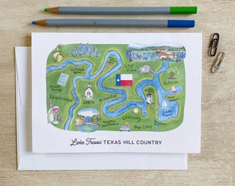 Lake Travis Texas Hill Country Greeting Card